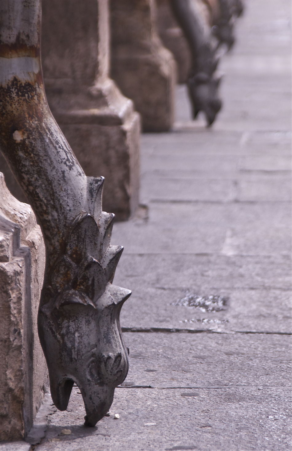 Alcalá De Henares. (Madrid) Ancient Architectural Column Architecture Built Structure Carving - Craft Product Column Day Decorations Dragons Floor Historic History Kvission Medieval Architecture Mónica Nogueira. No People Outdoors Selective Focus Stone Material Travel Destinations Waste Pipe