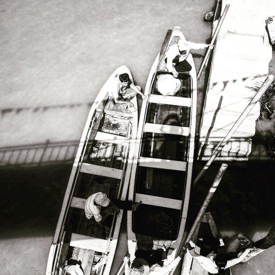 Cambodia Siemreap Boat Boats Blackandwhite Photography Black And White Blackandwhite Traveling