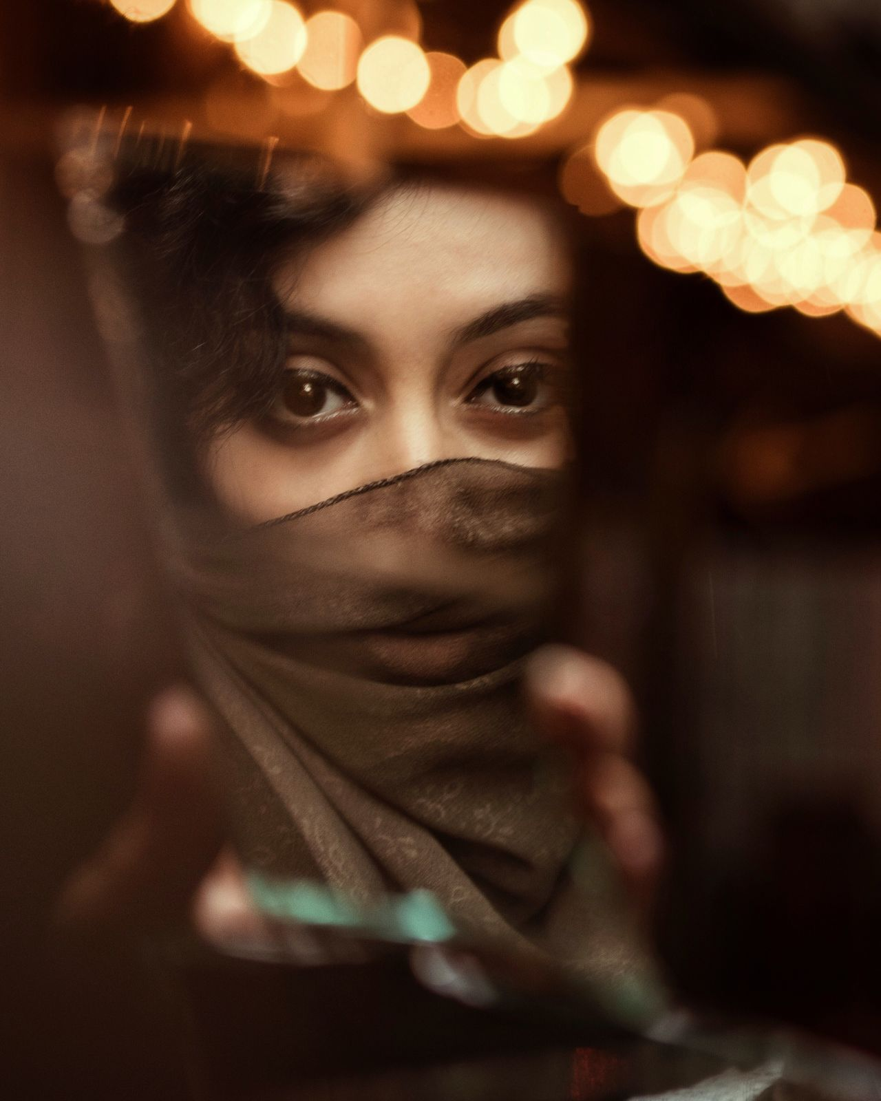 Re-edit Illuminated Bokeh Photography Women Who Inspire You EyeEm Best Shots Mirror Reflection Abstract Lights Eyes Soul Portrait The Portraitist - 2017 EyeEm Awards