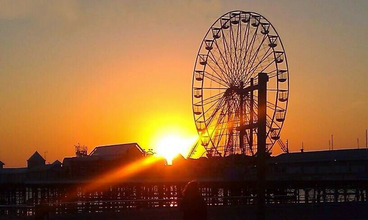 Blackpool easter 2012, central pier, I got lucky with the light as the sun was going down on the horizon. Taking Photos First Eyeem Photo