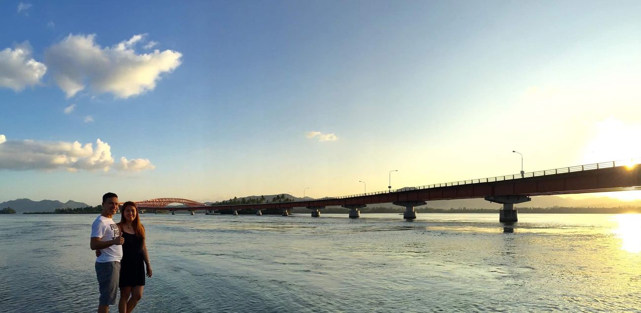 Sanjuanicobridge Leytephilippines Panorama Sunset