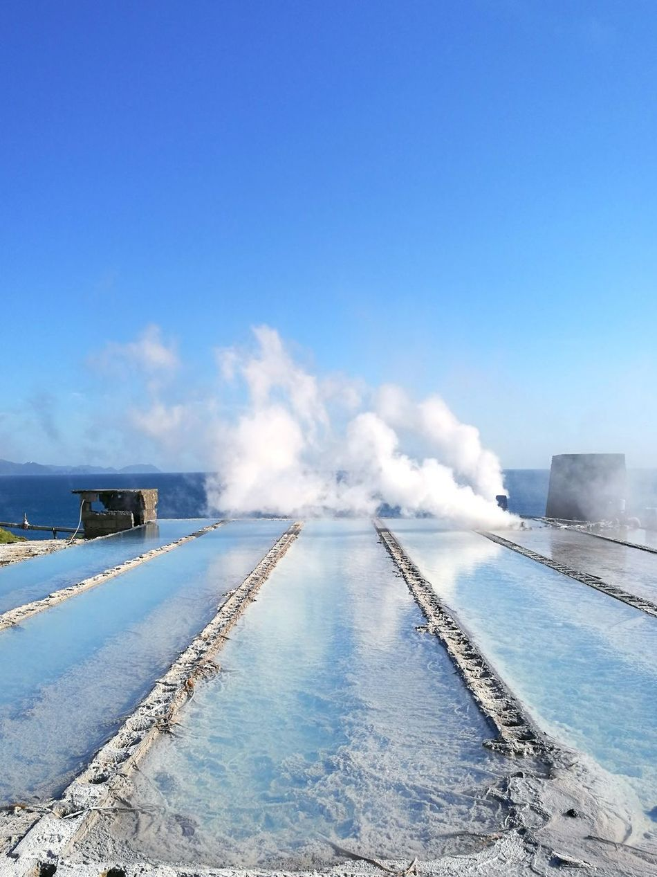 Outdoors Heat - Temperature Salt - Mineral Nature Sky Dreamlike Ibusuki Water Hot Spring Traveling Mobilephotography Travel Light And Shadow Steamy KYUSHU Capture The Moment Japan Photography Dreamy Naturephotography Seaside Bluesky Blue Blue Sky And Clouds EyeEmNewHere Foggy Art Is Everywhere