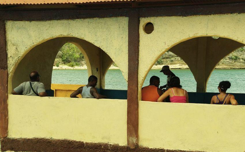 Waiting for the ferry Caribian Colorful Cuba People,street Santiago De Cuba Sea, Street Photography Waiting, Boring..