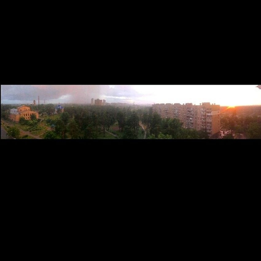 Панорама  город Киев вид_из_окна Panorama City Kiev Window
