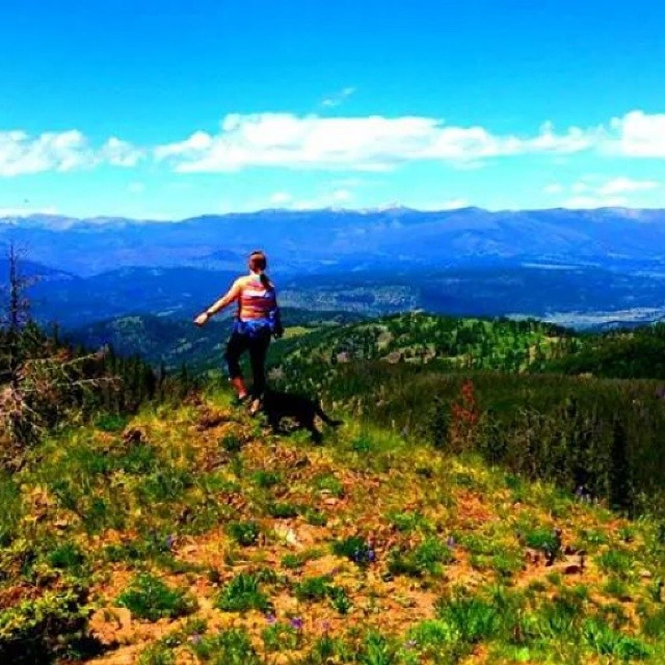 The most spectacular view Bestdayever Hiking BigSkyCountry Lookatthatview ontopoftheworld girlsdayout