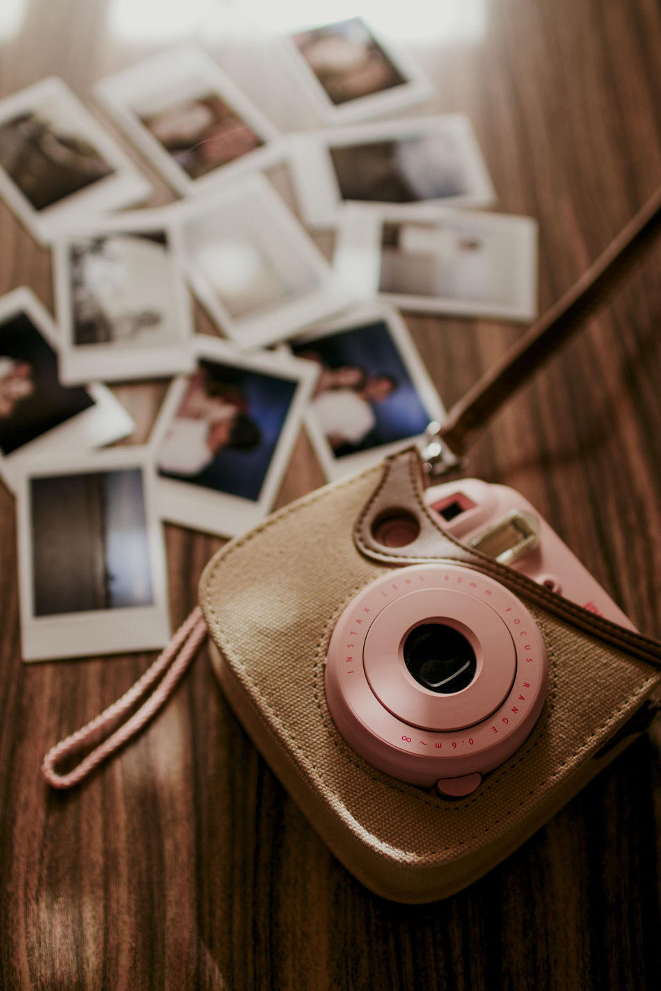 Camera Camera - Photographic Equipment Camera Insta Close-up Day Indoors  Instax Photo Instaxmini Instaxmini8 No People Pink Color Polaroid Vintage Vintage Camera Vintage Cameras Vintage Photo Wood Wood - Material