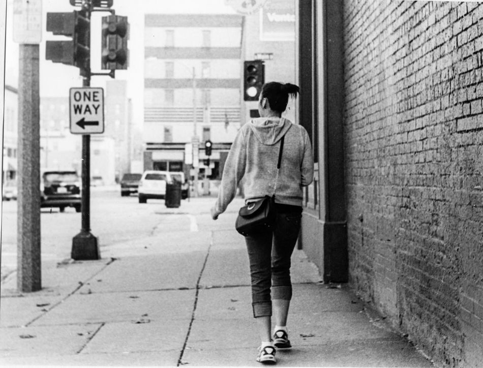 Walking Away Series - Downtown Street Day Young Adult Outdoors Full Length Film Filmcamera Film Photography Illfordhp5 Film Camera Filmisnotdead Ieica_r7 Taking Photos Hanging Out Real People Leisure Activity B&w Street Photography Black & White Women