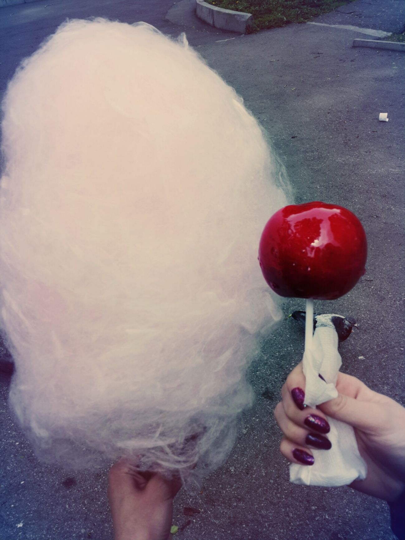 яблоко и сладкая вата Great Day 😀😀👌👌