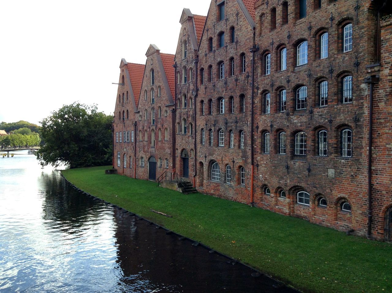 Historic Warehouses in Lübeck. · Germany Schleswig-Holstein Hansestadt Lübeck Hl Hanseatic Warehouse History Culture Old Town Architecture Brick Building Red Brick Waterfront Urban Exploration Nice Day