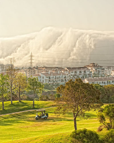 cloud wave Beauty In Nature Field Golf Course Golfcourse Golfing Grass Green Color Landscape Nature Photographer Arturo Macias Scenics Sky Tranquil Scene Tranquility Tree Weather