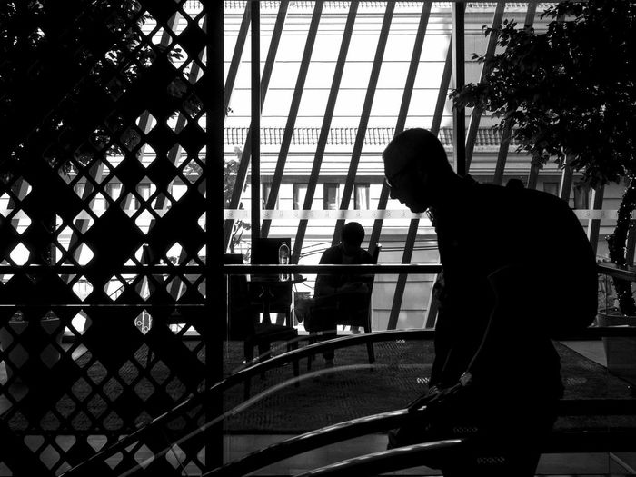 Architecture Day Indoors  People Real People Silhouette Tree Two People Window