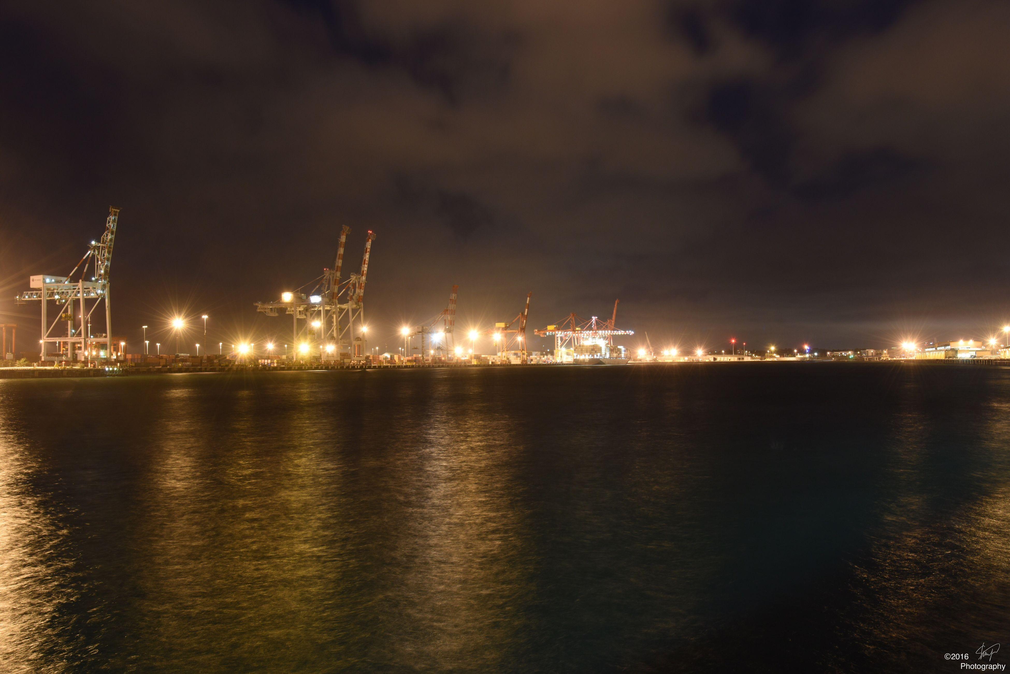 Night view at Fremantle harbor. Landscape No Filter DSLR Nikon Waterfront Outdoors Nightphotography Long Exposure Fremantle  Australia