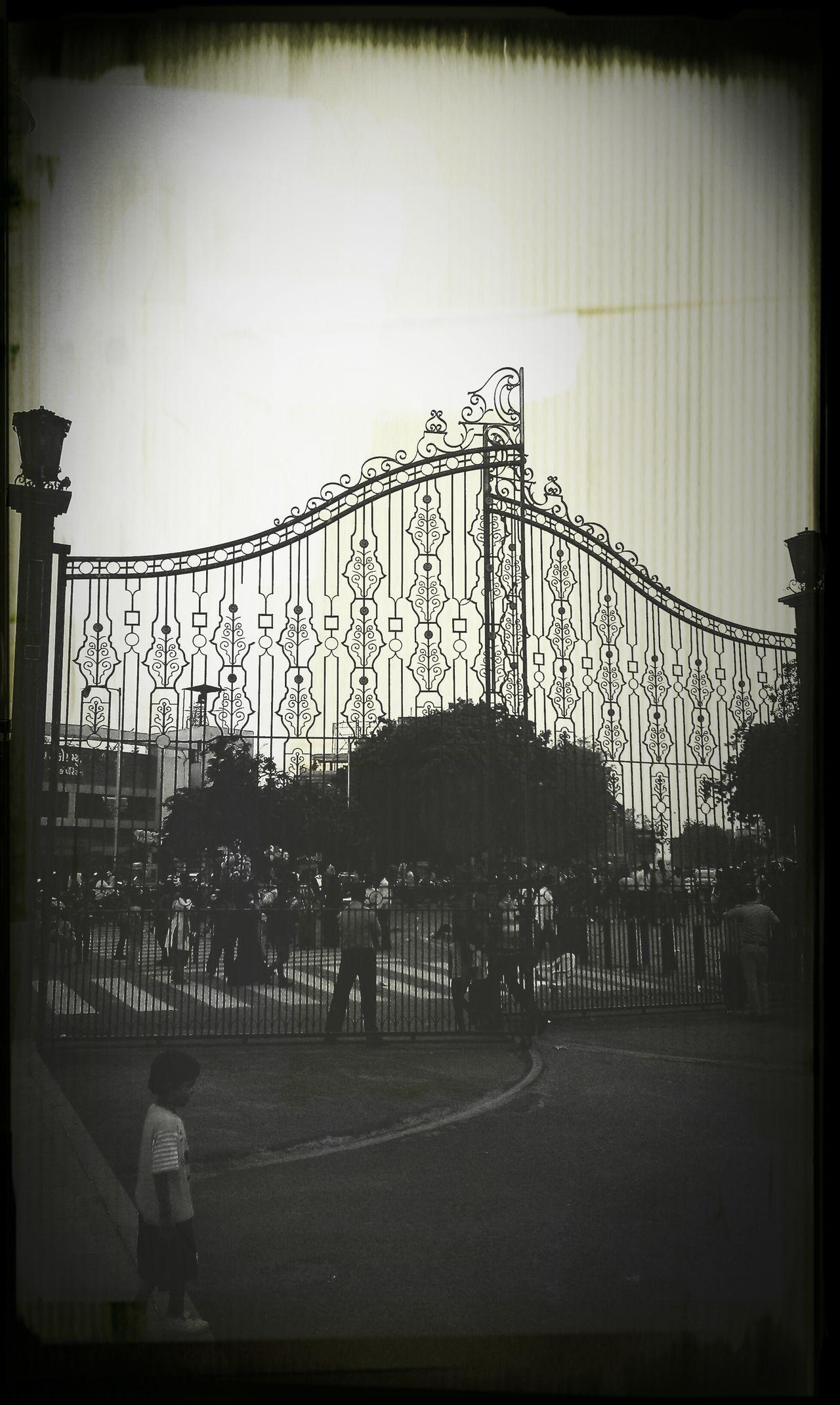 Gate Entrance Lakeshore Monochrome Photography