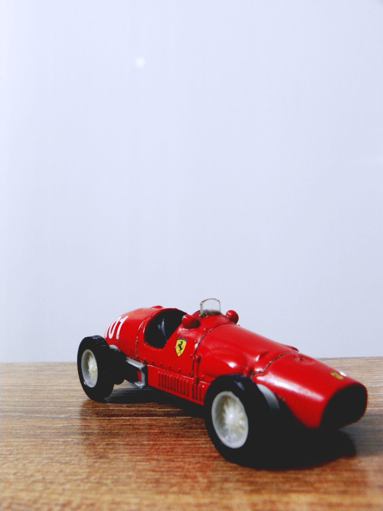"""Childhood memories"" Auto Racing Childhood Classic Car Close-up Color Ebay Ferrari Lieblingsteil No People Past Red Toy Car Toyphotography Lieblingsteil"