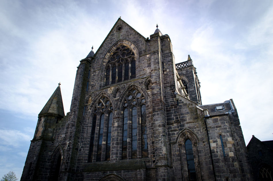 Architecture Building Building Exterior Built Structure Cathedral Catholic Church Cloud - Sky Day Exterior Historical History Low Angle View No People Old Outdoors Place Of Worship Religion Scotland Sky Spirituality Stone