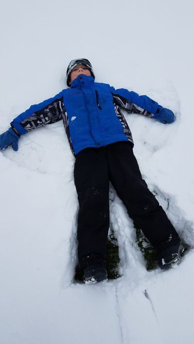 One Person Blue Winter Snow Snow Angel Snow Angels Snow Angel Boy Boy In Snow Winter Playtime Winter Playing Fun Fun In Snow