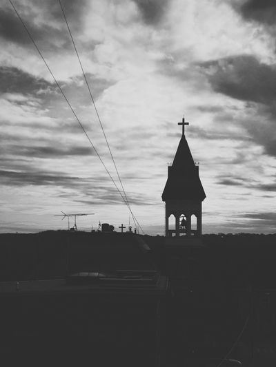 Church Architecture Silhouette Blackandwhite Vscocam IPhoneography