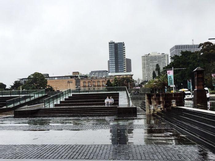 In The Rain City Rain Wet Damp Cold Grey