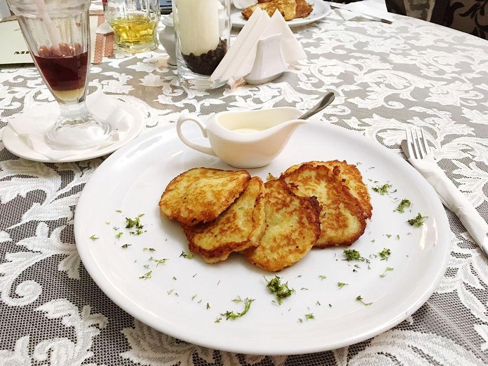 Potatoes Fried 🥔 Sour Cream Carpathians Bukovel