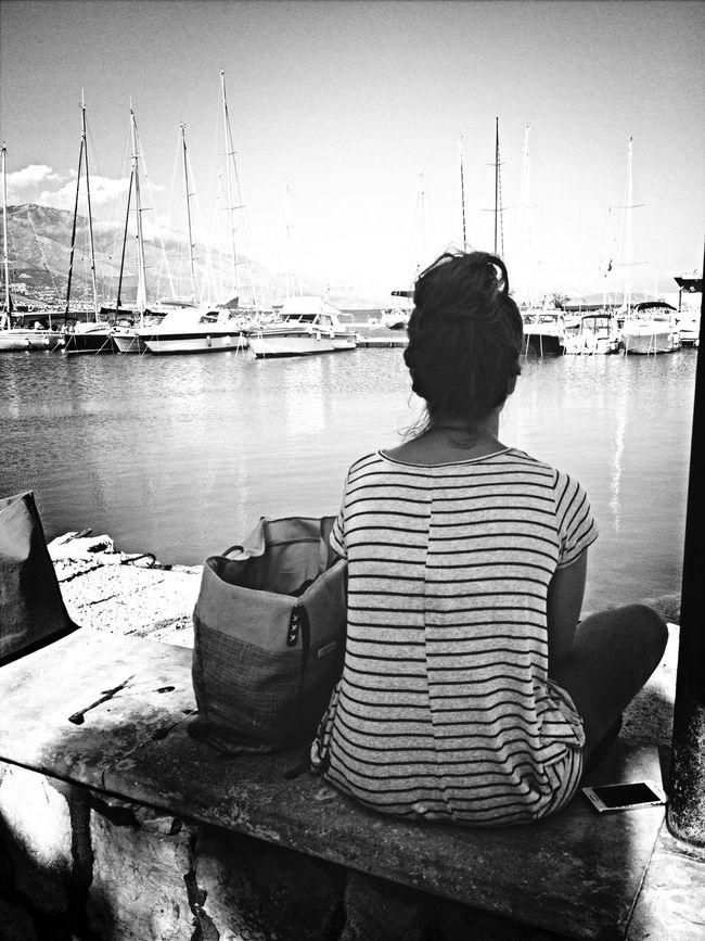 Porto Di Gaeta Black And White Peace And Quiet