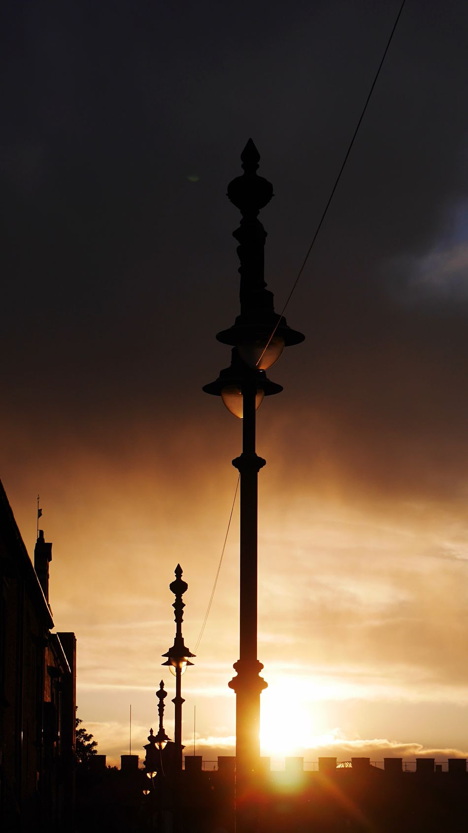 Sunset Silhouette Sky Street Light Outdoors Cloud - Sky Illuminated City Urban Exploration Urbanphotography Street Street Photography Streetphotography Light And Shadow Pisa Italy Nature Landscape Landscape_Collection Landscape_photography Clouds And Sky After The Rain