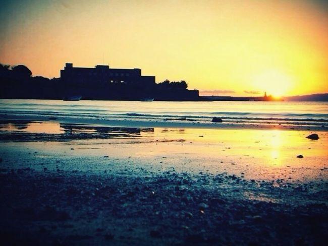 Beach Sun Set Sun Sea