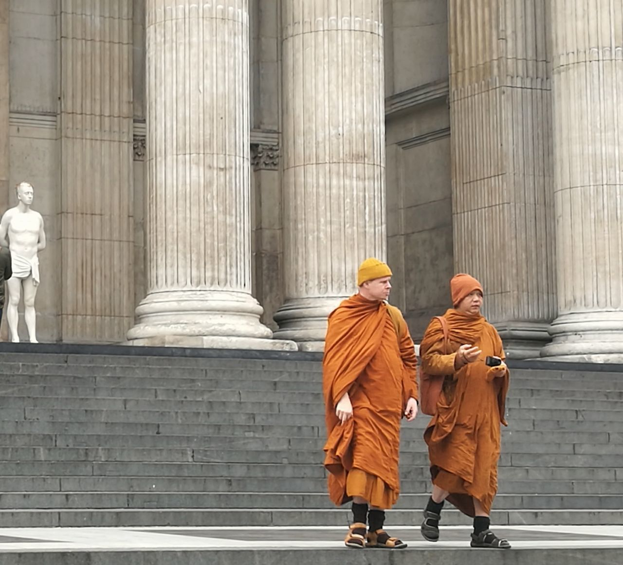 Buddhist monks st pauls cathedral when religion comes together Architectural Column Two People Politics And Government Outdoors StPaulscathedral Stpauls Cathedral London Skyline London Londonlife Architecture Sculpture 4thplinth Marble Steps Matthollick Cityoflondon Visitlondonofficial City Of London Tourism Huaweip9photos