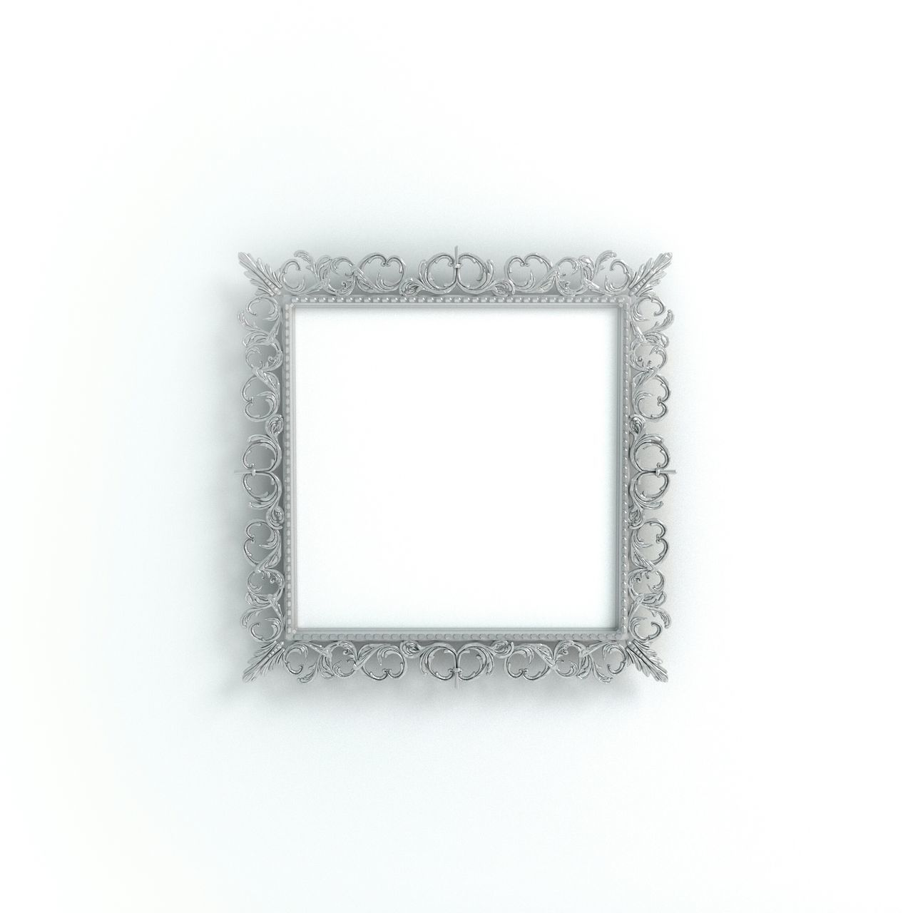 Frame Product Photography Blogphotography Photoframe Printshop Silver  Metal Square Baroque Stockphoto