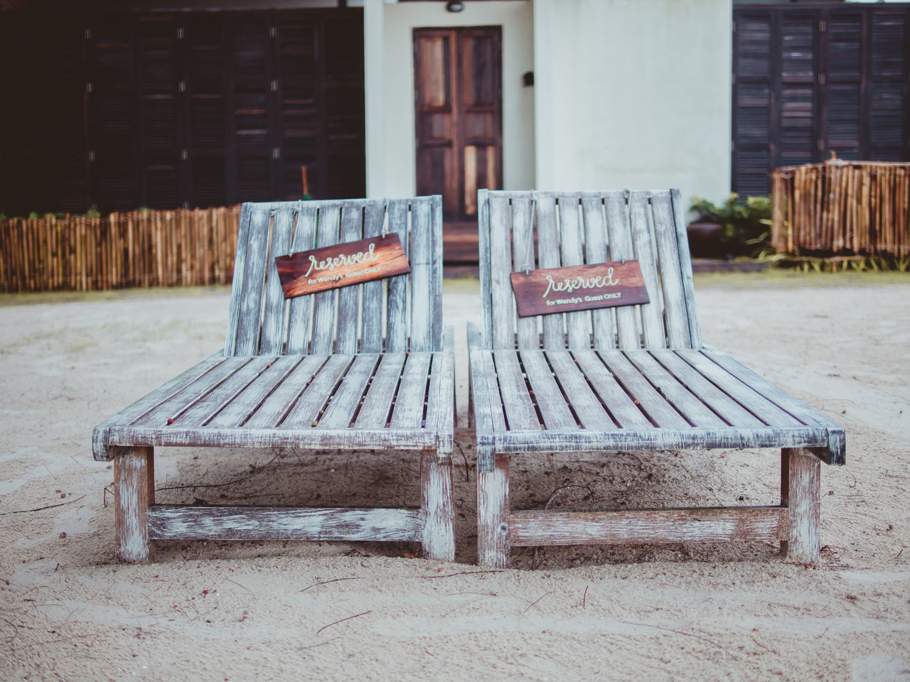 chair, absence, building exterior, outdoors, no people, day, abandoned, seat, empty, wood - material, architecture, table, built structure