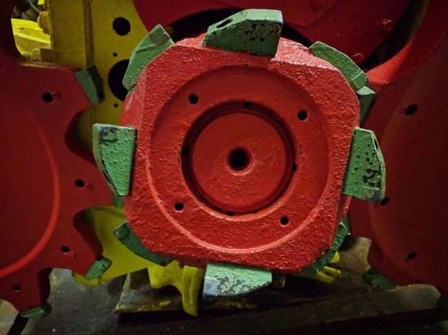 Red Art And Craft Multi Colored Close-up No People Full Frame Day Industrial Equipment Mining Bochum Mining Heritage History Shape Industry Gear Factory Mining Industry Technology Manufacturing Equipment Iron - Metal Red