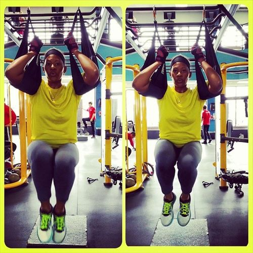 I had a great training session today. I like the TRX jungle gym. This is a serious core workout because you gotta use control. Focus Corework AbWork OneLifeFitness VaBeach fitFriday goals
