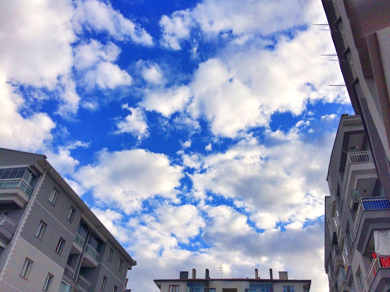 Sky Cloudslovers Nature Gokyuzu Blue Sky Bluelove Skyblue Skylovers Cloud - Sky Clouds