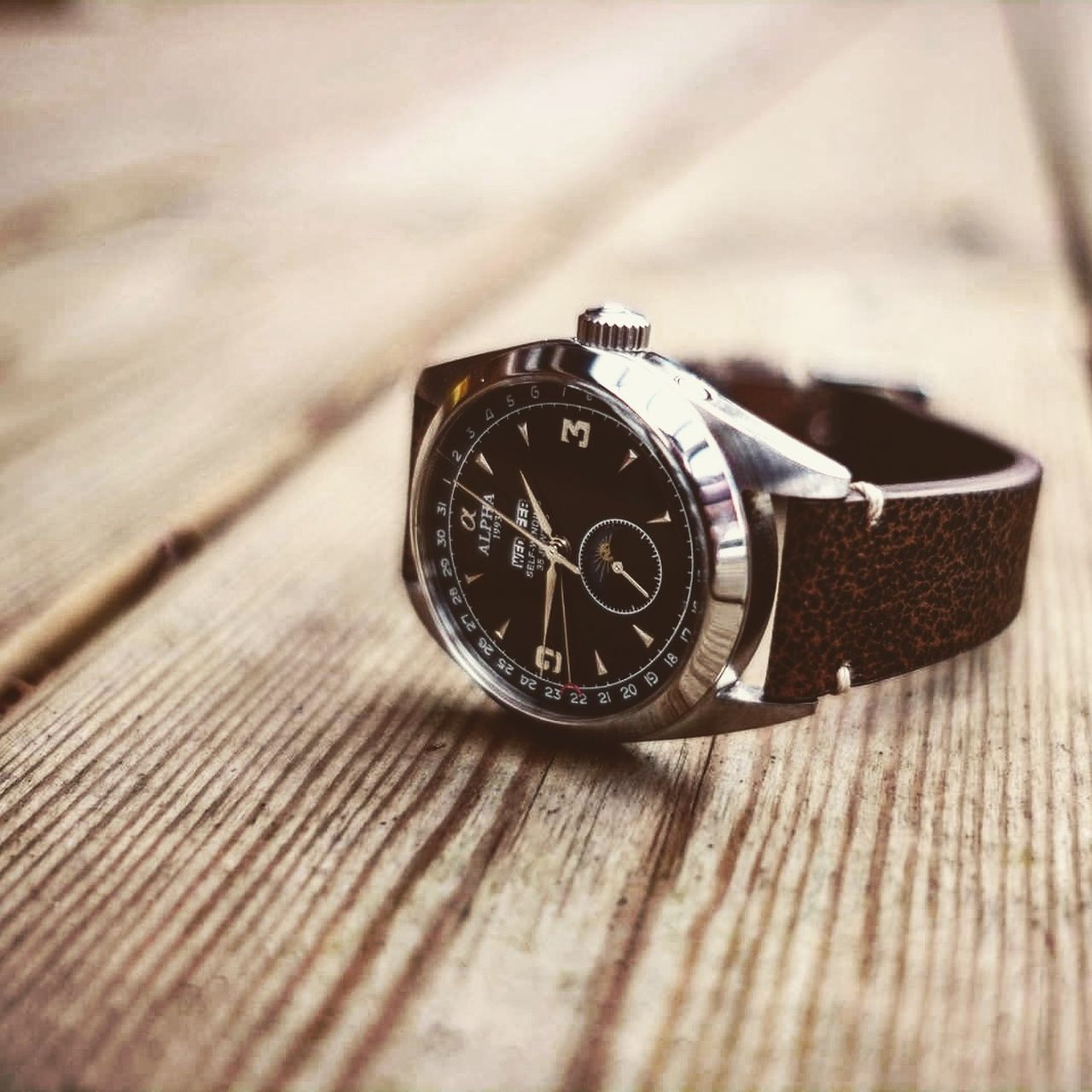 Clock Face Wood - Material Watch Personal Accessory Old-fashioned Fujifilm X-Pro1 Xf22mmf2 Watches Collecting Leather Vintage Classic Alpha Fujixseries