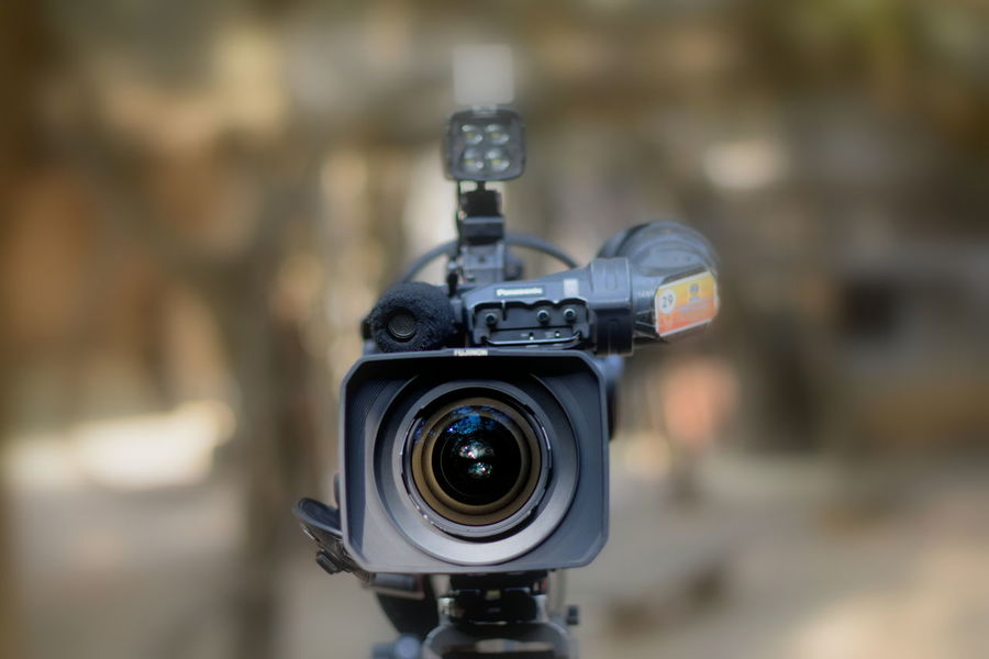 Camera - Photographic Equipment Close-up Day Digital Camera Eyesight Film Industry Filming Home Video Camera Lens - Eye No People Outdoors Photography Themes Television Camera