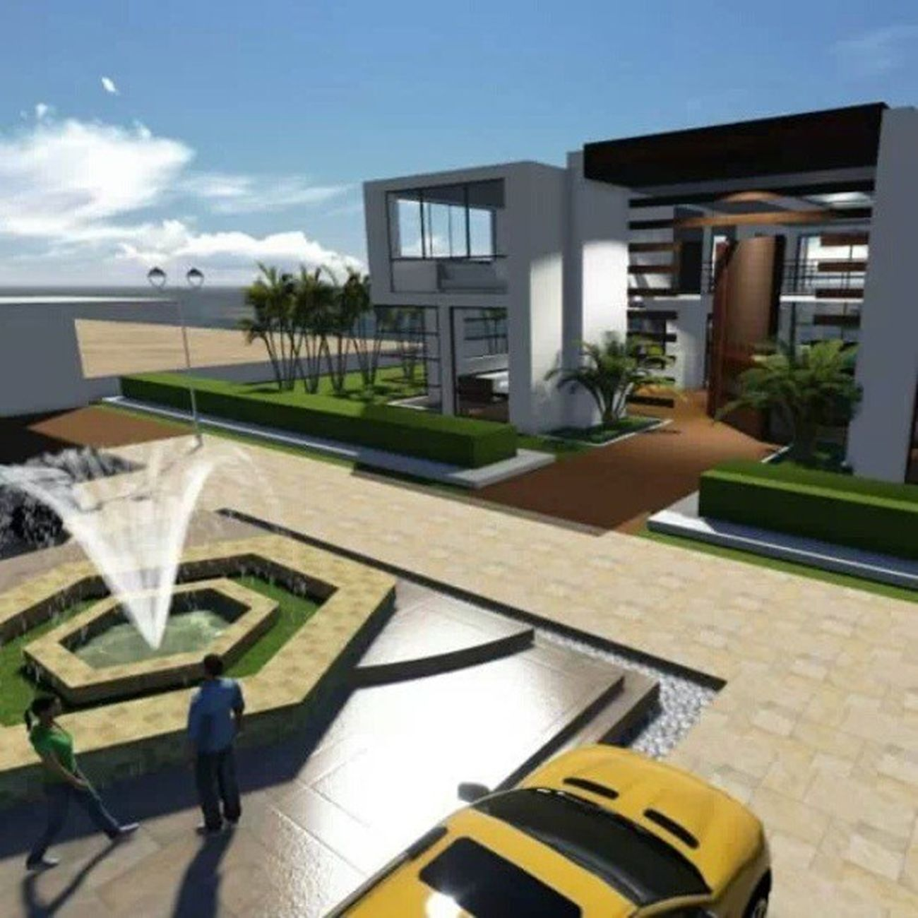Minha Humilde Residencia....aqui n falta energia kkkkkkkkkkk Arquitetura Architecture 3D MaqueteVirtual Work Sketchup Lumion3D BeachHouse BoaNoite