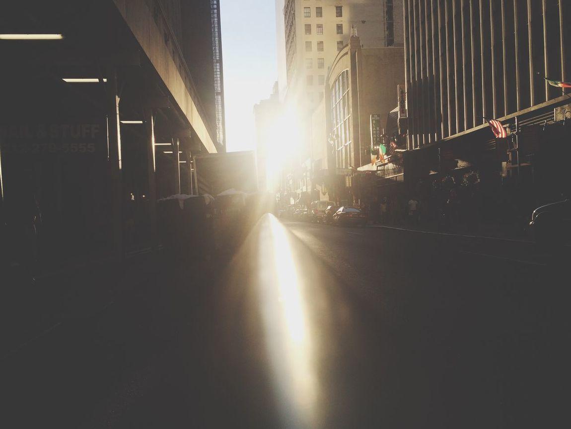 Street Summer Sunlight Glow Evening Sun New York City