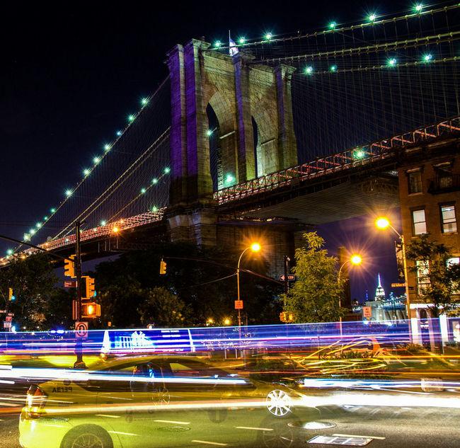 Learn & Shoot: After Dark Brooklynbridge City Lights Traffic Lights Traffic Flow New York City Nightphotography Night Photography Fulton Landing