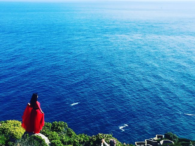 Atlantic Ocean Beauty In Nature Red Dress Cape Town South Africa Nature Women Who Inspire You Womenoftheday Women
