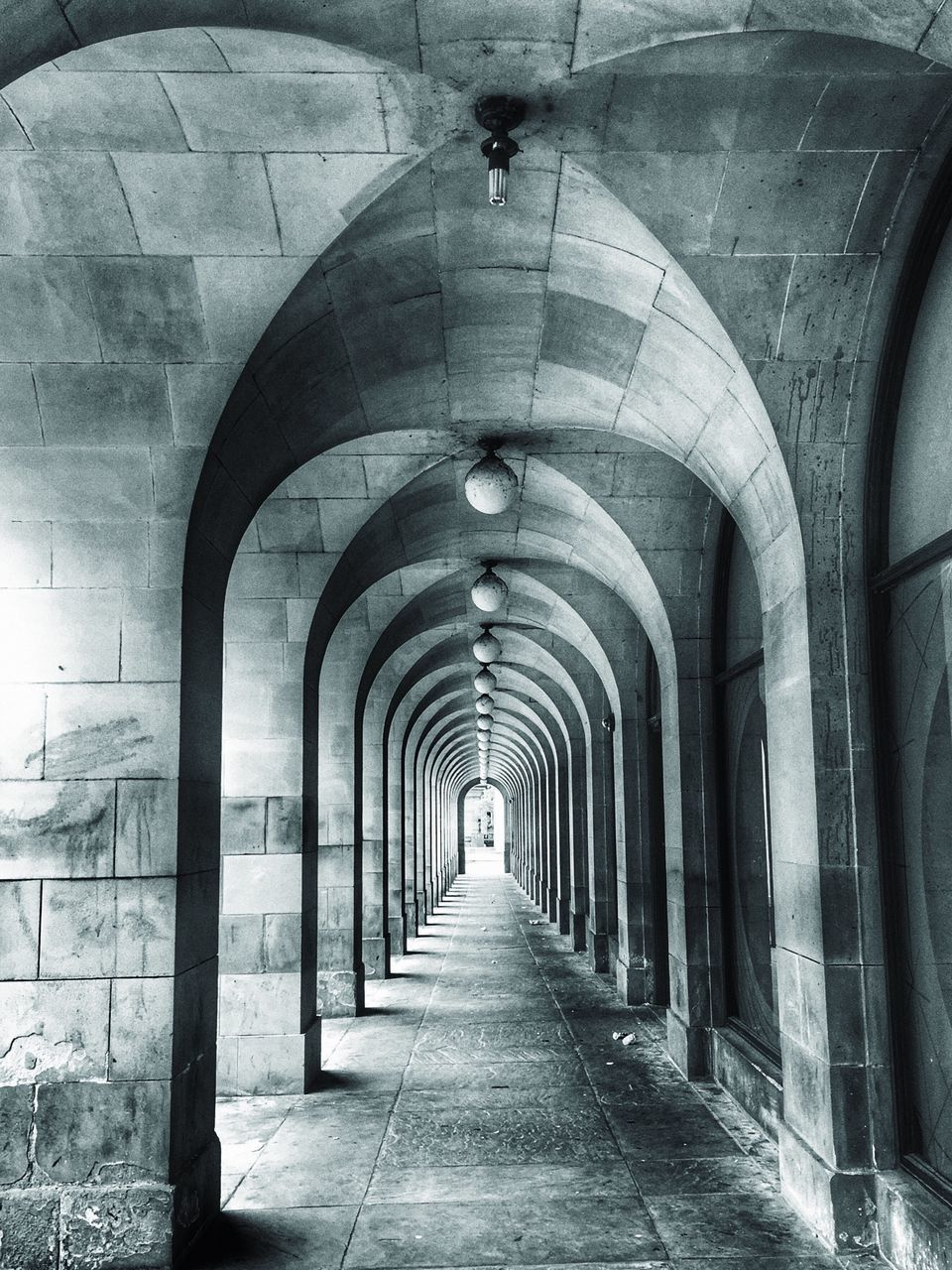 the way forward, arch, architecture, indoors, built structure, diminishing perspective, corridor, architectural column, day, no people