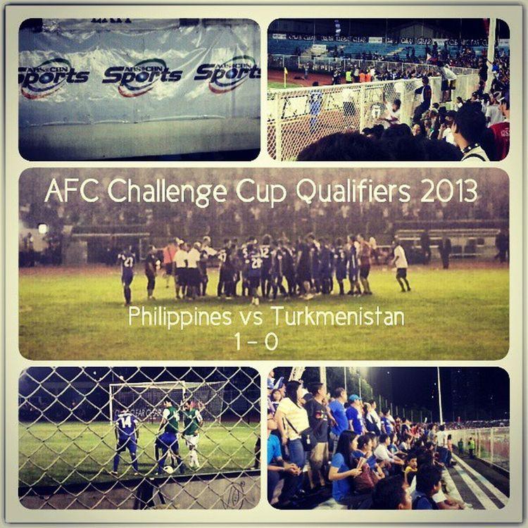 Final Score: 1 - 0. Such a thrill to watch the game live! AfcChallengeCup Azkals Turkmenistan Football Philippines goodtimes instagramthatshit
