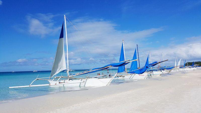 Beached. Beach Sea Outdoors BoracayIsland Boracay Philippines