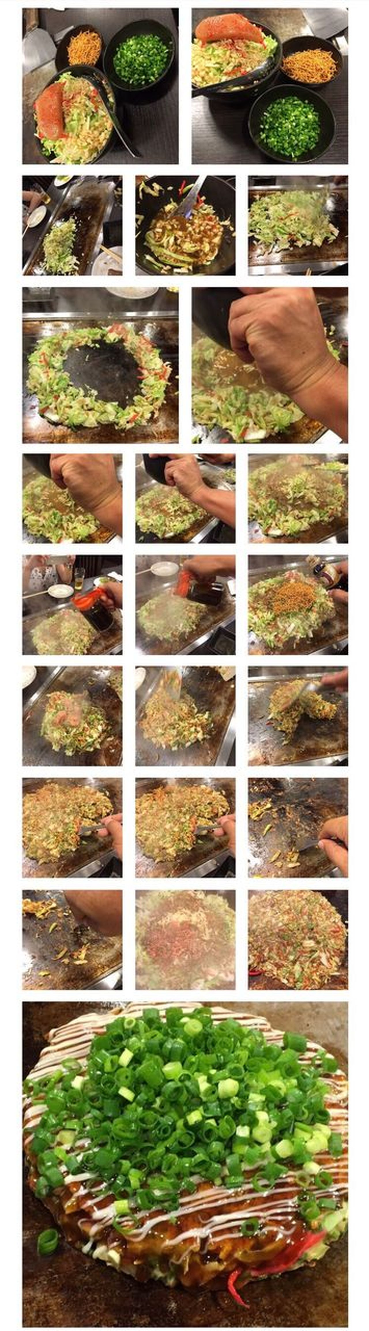 How To Make Japanese Food Monjya Okonomiyaki Vegetable In A Row Variation Shelf Agriculture Food And Drink No People Choice Indoors  Growth Day Grass Freshness Collage Nature Multiple Image Food