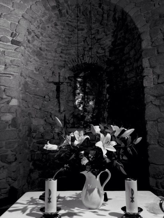 Ermità de Sant Pau Flowers Monochrome Eye4black&white  Bw_collection EyeEm Best Shots - Black + White Eye4photography  Church Candles blackandwhite