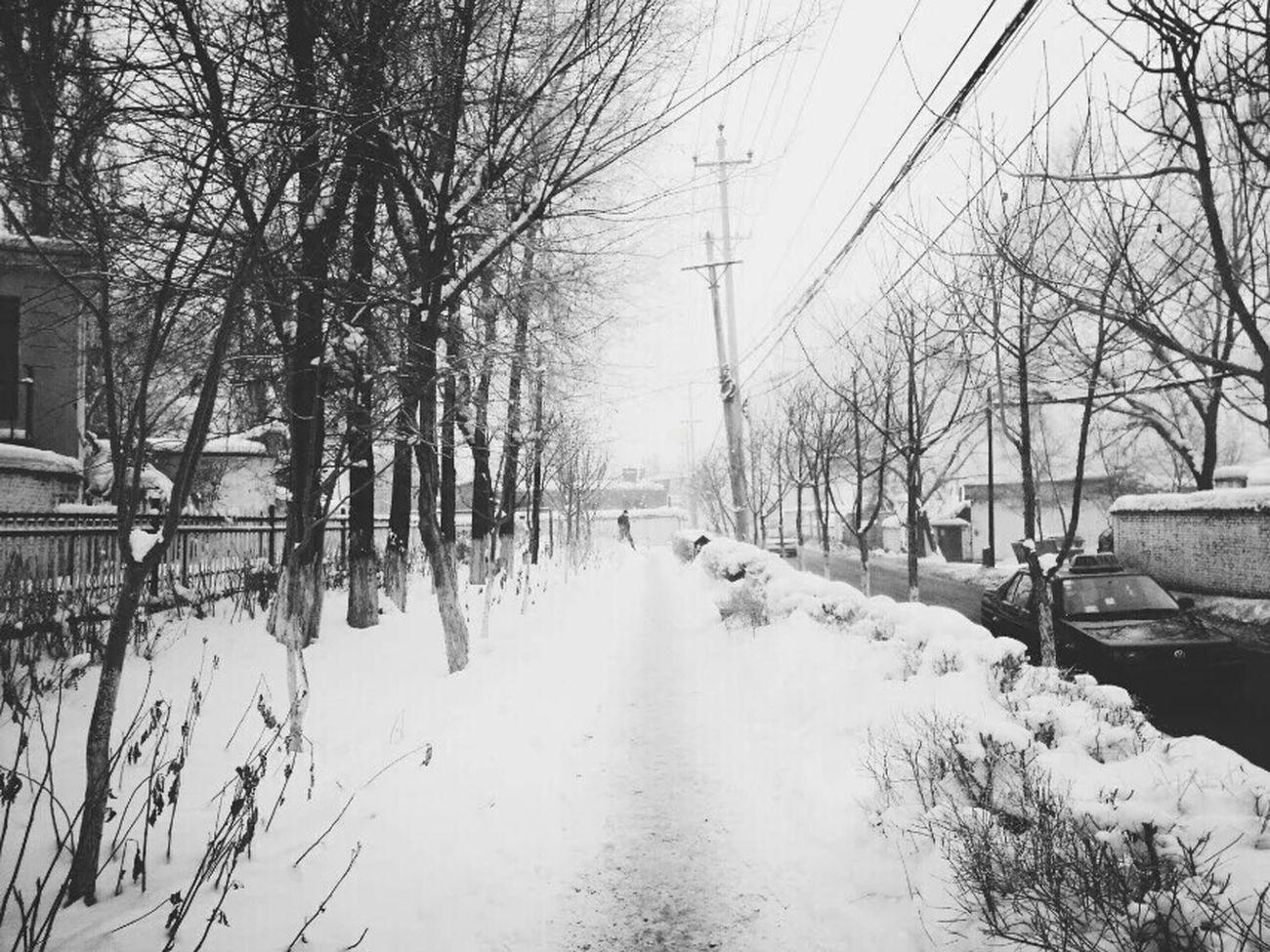 Snow ❄ 乌鲁木齐Black & White Taking Photos Beautiful ♥ Enjoying Life Happy Day EyeEm The Best Shots Have A Nice Day♥ Eye For Photography