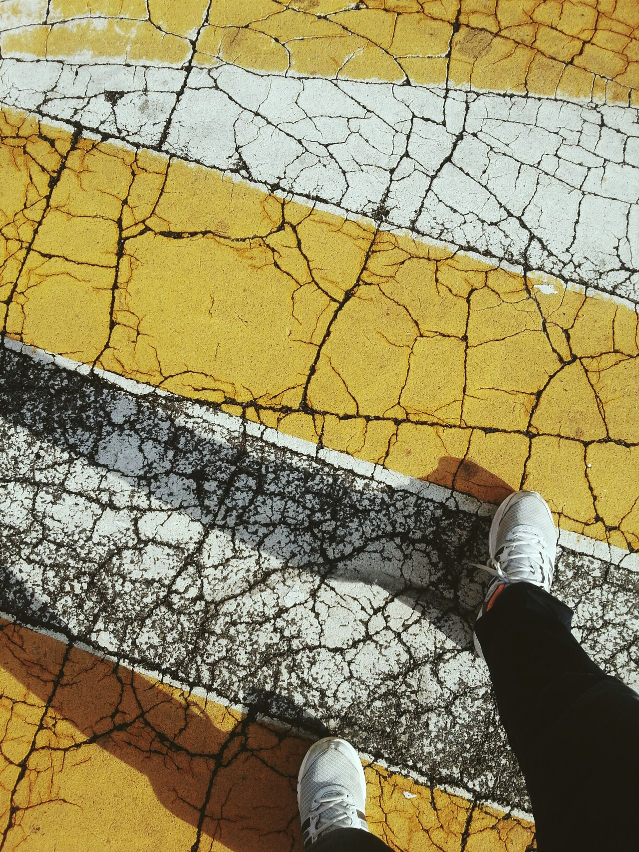 Cracked up Speed Bump Asphalt Foot Steps The Street Photographer - 2014 EyeEm Awards