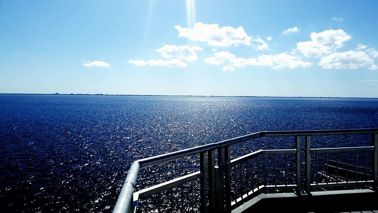 sea, horizon over water, water, railing, sky, scenics, nature, day, outdoors, tranquility, no people, beauty in nature
