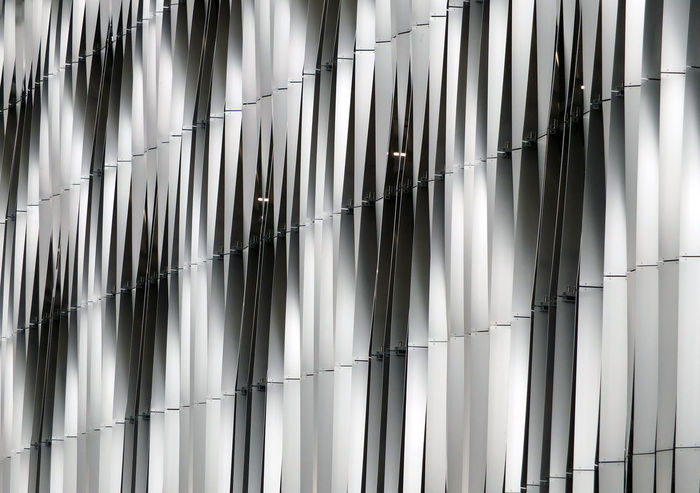 metal exterior of modern building Backgrounds Cladding Close-up Day Full Frame High Tech Indoors  Metal Building Metal Cladding Metallic Modern Architecture No People