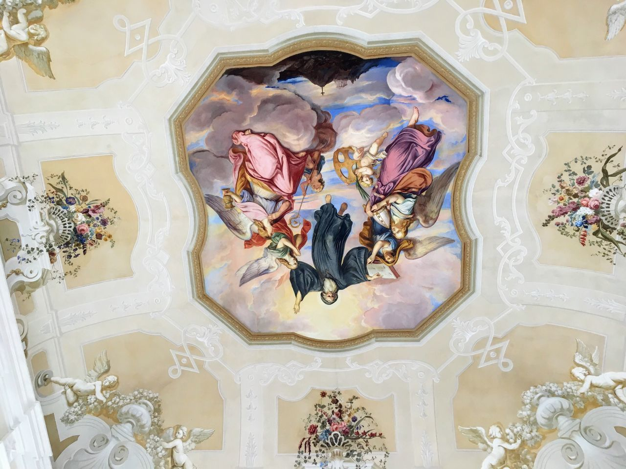 STIFT MELK Religion Indoors  Place Of Worship No People Fresco Day Built Structure Outdoors Door Arch Window Building Exterior Tourism Architecture Sky