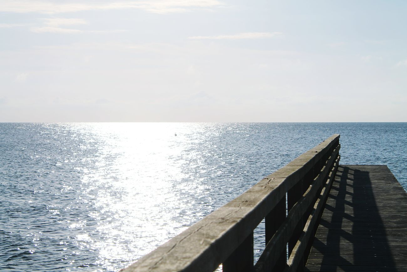 Don't Look Back, You're Not Going That Way. Blue Sky Blue Ocean Seebrücke Beautiful Beautiful Nature Beautiful Day Sky Ocean Sun Live, Love, Laugh