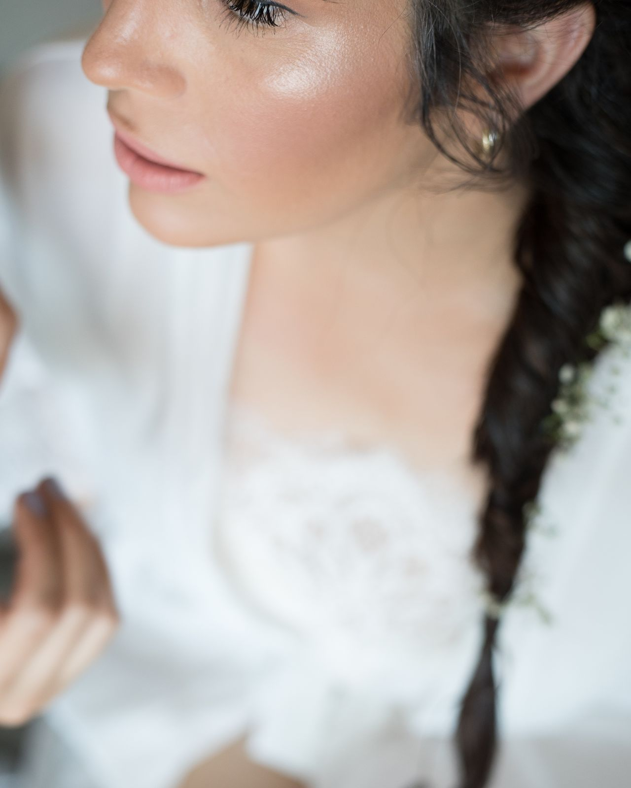 You're all soft lines and blurry edges. One Woman Only People Close-up Portrait Beauty Heart Eyestoriestudio Love Popular Portraits Of EyeEm Selective Focus Sound Of Life Summervibes Beautiful People Canon 5d Mark Iv Weddinginspiration Weddingphotography Wedding Preparation  Wedding Day Wedding Party Wedding Dress EyeEm Portraitmood